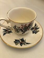 New ListingLenox Winter Greetings Cup & Saucer 313391 1995 Holly Berries and Ribbon