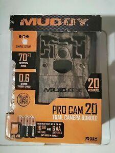 MUDDY 70' 20MP PRO CAM 20 TRAIL CAMERA BUNDEL MUD-MTC600K -(EB78)
