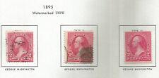 USA ==> 3X USED STAMPS - 1895 - GEORGE WASHINGTON