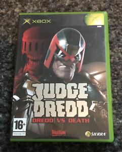 Rare XBOX ORIGINAL GAME -  JUDGE DREDD Dread Vs Death
