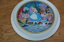 Disney Treasured Moments Alice in Wonderland Plate #9003A with White Frame