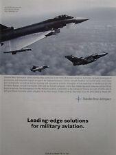 11/1997 PUB DAIMLER BENZ AEROSPACE EUROFIGHTER TORNADO AT 2000 ORIGINAL AD