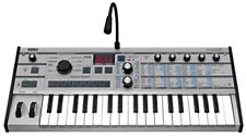Korg MicroKorg PT Synthesizer limited edition platinum color model 37keys RARE