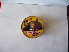 Masha and the Bear tin box Маша и Медведь metal butterfly used rare 2010 39mm