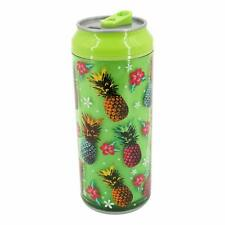 Coolgearcan Green Pineapple,16 oz, BPA Free, Double Wall, Twist lid, Spill Proof