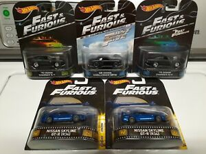 Hot wheels Retro entertainment Fast &Furious LOT OF 5