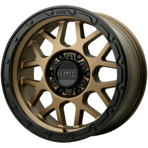 "KMC KM535 Grenade Off-Road 17x8.5 6x5.5"" +0mm Bronze Wheel Rim 17"" Inch"