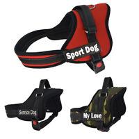 Custom Dog Harness Personalized Small Large Big Dogs Bulldog Pitbull Name Number
