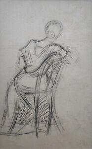 Kliefert-Gießen,Mathilde (1887 Pries – 1978 Stralsund) Rückenansicht einer Dame