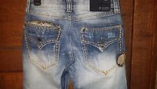 CJ Black Premium Relaxed Bootcut Jeans with Liberty and Indian Patches size 28