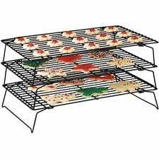 Top Home Solutions 3 Tier Stacking Cooling Rack For Biscuits, Cakes, Cupcakes