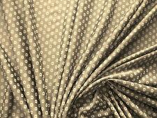 1Lfm Jersey 2,93€/m²  150cm breit  braun, beige Blüten P8