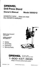 Dremel 212 Drill Press Manual & Spare Parts