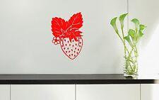 Wall Stickers Vinyl Decal Decor Kitchen Berry Strawberries ig1389
