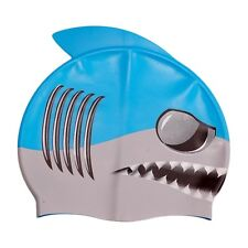 Ishka Children Kids Silicone Swim Swimming Cap Hat Billy Blue Fin New