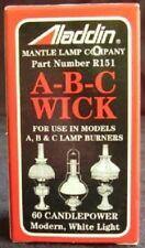 ALADDIN brand wick alladin for oil lamp model  A , B , C ,& 14 burner  R151
