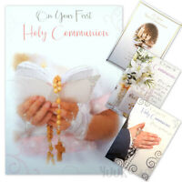 1st COMMUNION CARD ~ First Communion Greetings Card ~ Holy Communion Card