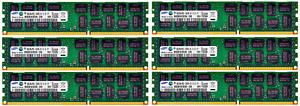 Samsung 6x8GB 48GB DDR3 1333 Mhz 1066 Mhz ECC RAM Apple MacPro 4,1 5,1 PC3-10600