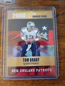 2000 Rookie Phenoms Tom Brady Gold Platinum Limited Edition NFL Rookie Mint!!
