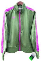 Umbro Women's Jacket Size XL Soccer Full Zip Track Jacket Bomber Green Purple