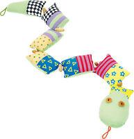 Domino Schlange Stoffkissen Plüschtier small foot bunt Baby Spielzeug
