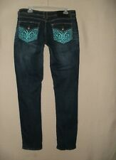 Size 13 / 14 Dereon Women Designer Dark Wash Jeans Pre Owned FREE SHIPPING