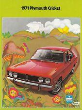 PLYMOUTH CRICKET Limousine Youngtimer Prospekt Brochure USA 1971 36