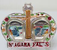 Vintage Metal Collectors Tin Metal Tray Niagara Falls Novco Japan