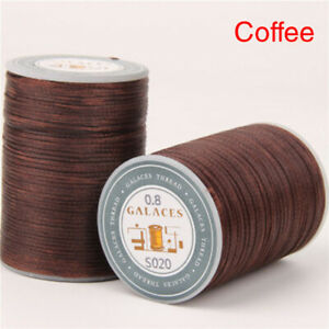 New Leather Waxed Thread 0.8mm/1Roll Flat 150D Sewing Craft Cord DIY 14Colors