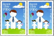 New Father's Day Stamp 2014 Blk of 2 MNH    Lebanon   Liban