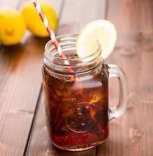 48/CASE 16 Oz Glass Mason COUNTY FAIR Canning Drinking Jar with Handle Wedding