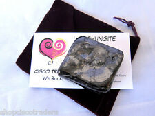 Shungite XL 60g Pocket Stone A24-2 Purple Pouch Card Tumbled Russia Protection