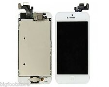 White Apple iPhone 5 Full LCD/Digitizer W/Button/Camera Repair Assembly Part OEM
