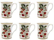 Strawberry Fayre Set of 6 China Mugs by Leonardo New GiftBoxed Coffee or Tea Mug