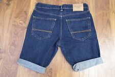 Abercrombie & fitch Dark Blue denim Slim cutoff jeans shorts men W31