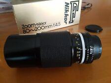NIKON - Zoom Nikkor 80-200 f/4,5 Ai manual focus.