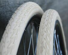 "28"" Cream White Delta Cruiser Bicycle TIRES Vintage Raleigh Bike Wood Wheel 635R"