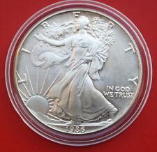 """America: 1 pi. - OZ """"Silver Eagle"""" 1986 ST-bu, # F 2042"""