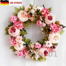 Simulation Pfingstrose Blumenkranz Wand Tür hängen Floral Garland Hochzeitsdeko