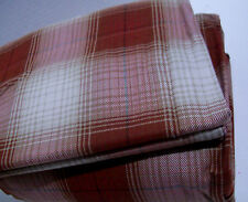 Cuddl Duds Heavyweight Cotton Rusty Red Brown Ombre Plaid Flannel King Sheet Set