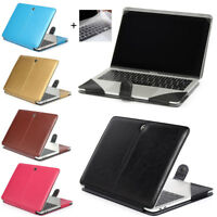 """Leather Laptop Sleeve Bag Case Cover for MacBook 12"""" 11"""" 13"""" 15"""" Air Pro Retina"""