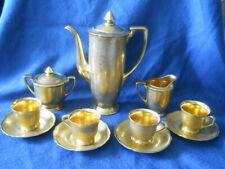 1920'S PICKARD 24K GOLD PLATED CHINA COFFEE SET