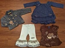 NAARTJIE 6-12 MONTHS SISI PRINT DRESS RUFFLED PANTS AFRICA TUNIC DENIM JACKET