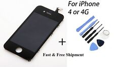 New BLACK Replacement lcd digitizer assembly for iPhone 4 4g GSM + Tools