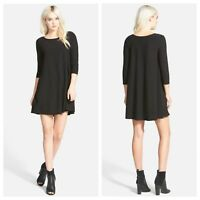Leith Nordstrom Trapeze Swing Little Black Dress Crepe SZ Small
