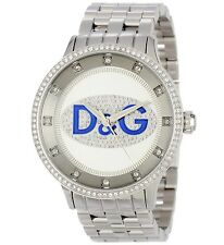 DOLCE & GABBANA DW0133 PRIME TIME UNISEX STAINLESS STEEL CRYSTAL WATCH