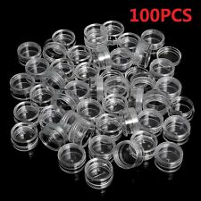 100X 5ml Clear Cosmetic Sample Craft Storage Containers Cosmetic Tools Pots