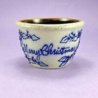 VINTAGE MERRY CHRISTMAS BERRY VINE SALMON FALLS STONEWARE BOWL 1995