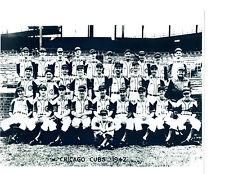 1942 CHICAGO CUBS 8X10 TEAM PHOTO BASEBALL HOF USA HACK CUYLER FOXX SPAULDING