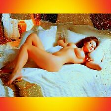 NIK TOD ORIGINAL PAINTING LARGE SIGN ART RARE EROTIC NAKED NUDE EXTASE WOMAN UK